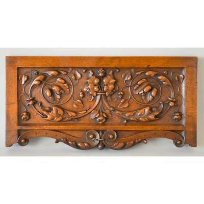Fine Antique Carved Walnut French Renaissance style Architectural Salvaged Panel