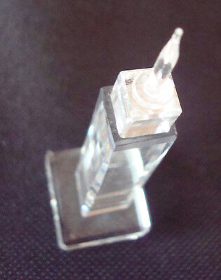 Crystal Empire state building, New York, 7.5 cm high, Glass ornament, souvenir