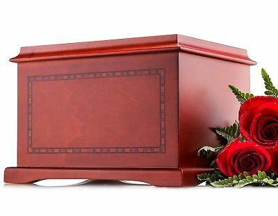 SmartChoice Wood Human Funeral Cremation Urn for Human Ashes Adult Urn Size -...