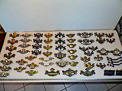 Antique Vintage Pulls Handles Parts Cabinet Drawer Hardware #4 Steampunk 60 Pcs