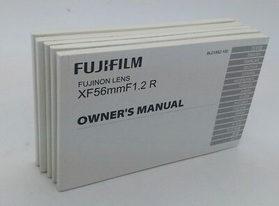 FUJIFILM FUJINON XF LENS 14 18 23 27 35 56 60mm Instruction Manuals as new