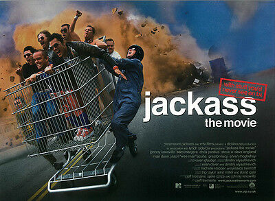 """Jackass movie poster - Johnny Knoxville poster 12"""" x 16"""" - Jackass poster"""