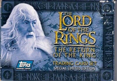 Lord Of The Rings Return Of The King Movie Topps Europe Factory Card Set Of 20