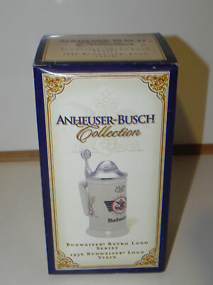 New old Budweiser Lidded Stein;  Anheuser - Busch..Retro Logo Series 1936...2003