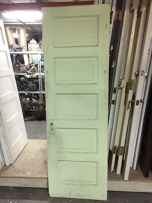 "Old Raised Five Panel Door 79 1/2"" X 26"