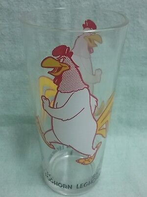 Vintage LOONEY TOONS FOG HORN LEG HORN Pepsi glass new unused 1973