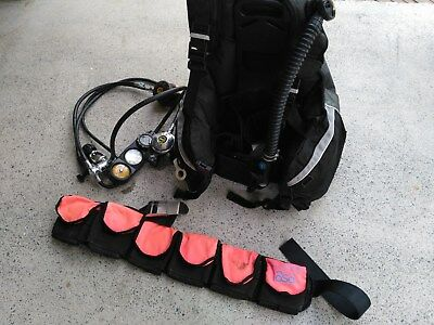 TUSA Liberator BCD Dual Occy US Divers Reg and Weight Belt