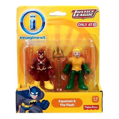 NEW Imaginext Aquaman & Flash Justice League Fisher-Price DC Comics Figures Toy