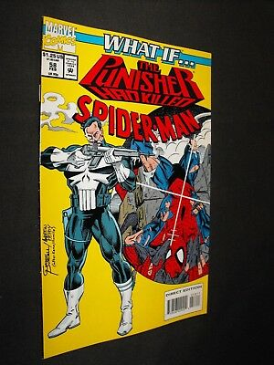 WHAT IF...the PUNISHER HAD KILLED SPIDER-MAN # 58 BRIGHT YELLOW COVER