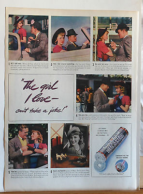 1938 magazine ad for Life Saver Candy - colorful photo story of romance saved