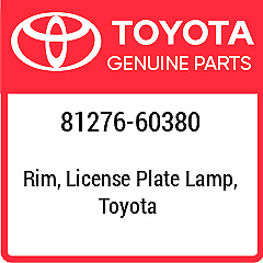 81276-60380 TOYOTA Cover License Plate New Genuine OEM Part