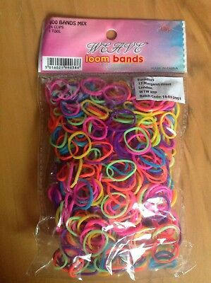 Weave Multi Coloured Loom Bands  Pk 600 + Clips + Tool  in Sealed Pack   New