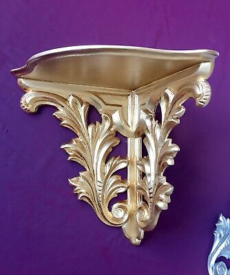 Wall Console Antique Gold Baroque Corner Shelf Height: 28 B :3 0 T: 23 the