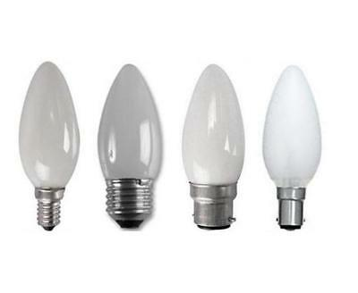 10 X Pearl Candle Lamp Light Bulbs 25W 40W 60W ES SES BC SBC Cap Chandelier