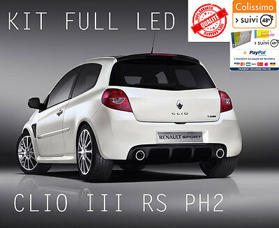 Kit 16 Led Renault Clio 3 Iii Rs Gt Finition Luxe Anti Erreur Obd Blanc Pur