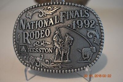1992 National Finals Rodeo Hesston Belt Buckle Commemorative Limited