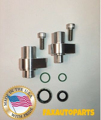 LS New AC Compressor adapter fittings for Denso 10S17F & 10S20F CNC Machined USA