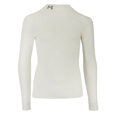 Under Armour Boys' ColdGear Fitted Mock L/S Shirt White/Steel XL