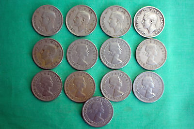 Great Britain 13 Coin Florin KM#906 Two Shillings Assorted Dates Average Circ