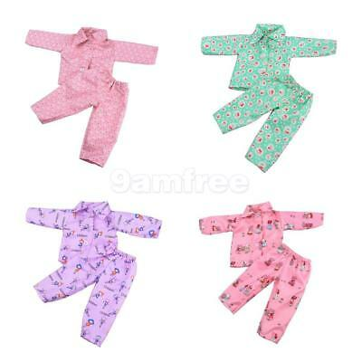 4 Set Pajamas Various Pattern Clothes for 18'' American Girl Our Generation Doll