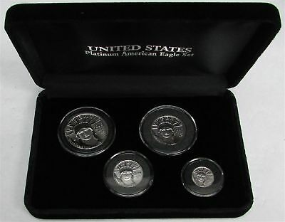 1999 Platinum Eagle Statue Of Liberty Mint State 4 Coin Set