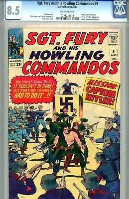 Sgt. Fury #9 CGC GRADED 8.5 - Hitler cover/story - Baron Strucker appearance