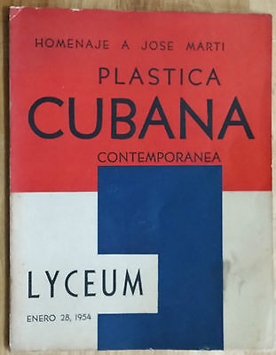 "Art Catalogue ""plastica Cubana Contemporanea"" Lyceum Tribute To Jose Marti Cuba"