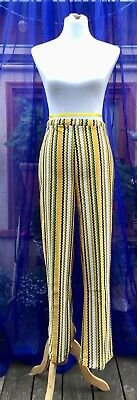 Vintage Montgomery Ward Polyester Pants! Size 30, Multicolor Stripes. GREAT!!!!