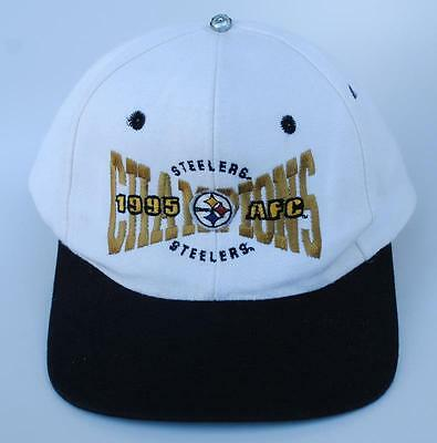 Vintage PITTSBURGH STEELERS 1995 AFC CHAMPIONS One Size Baseball Cap Hat 7382e23ff