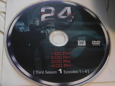 24 Third Season 3 Disc 1 Replacement DVD Disc Only 42-118