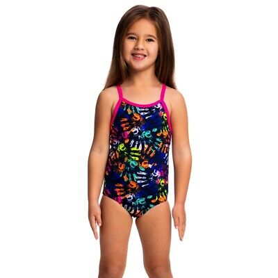 Funkita Hands Off Toddler Girls Printed One Piece , Toddler Girls One Piece Swim