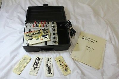 Vintage BELL & HOWELL DEVRY SCHOOLS CONSOLE 80 Electronics Lab w Books & Boards
