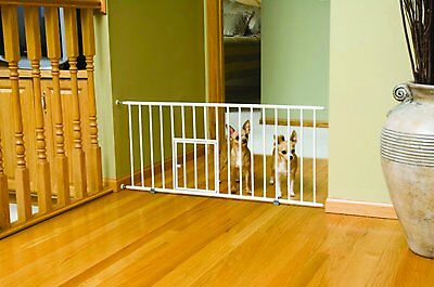 Durable Gate Metal Extra Wide Fence For Child Baby Cat Dog Puppies Door Safety..