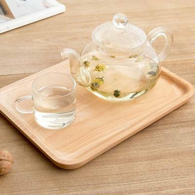 Wood Simple Tray Serving Trays Tea Plate Coffee Plates Bread Wooden Large Brunch