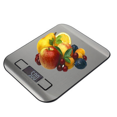 NEW Digital Kitchen Scale 11lb/0.05 ounce 5KG/1G Slim Electronic Stainless Steel
