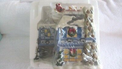 Partylite The Night Before Christmas Music Box Tealight House New in Box P8651