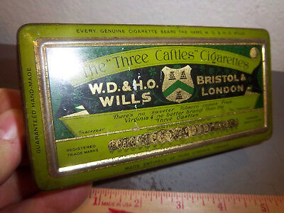 VINTAGE Three Caftles Cigarettes tobacco tin, great colors, WD & HO Wills London