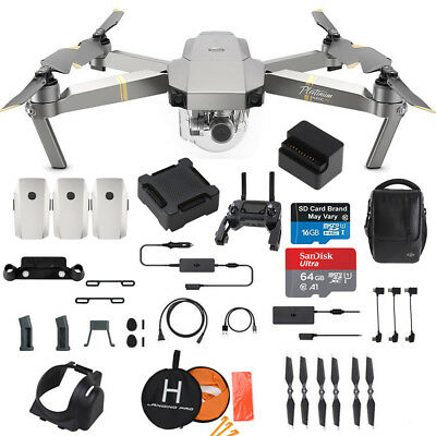 DJI Mavic Pro PLATINUM - Fly More COMBO Drone - Professional Case and Much More