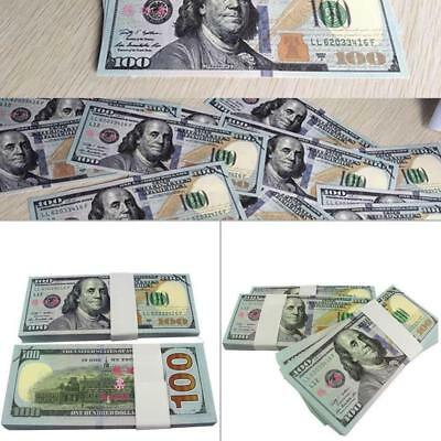 100 Bills Best Novelty Movie Prop Play Fake Money Joke Prank Not Tender BE