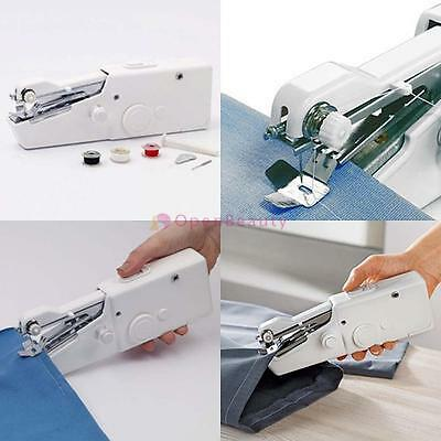 Mini Portable Travel Home Sew Quick Hand-held Stitch Clothes Sewing Machine BE