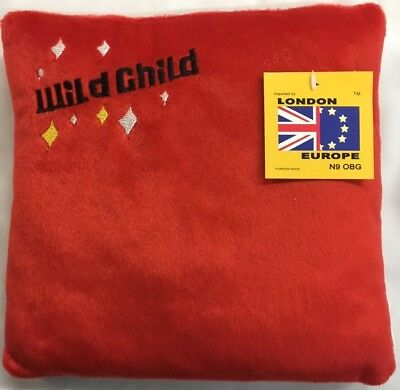 RED MINI CUTE FUNKY CUSHION SOFT PAD SOFT WILD CHILD KIDS CHILDREN 23 x 23cm