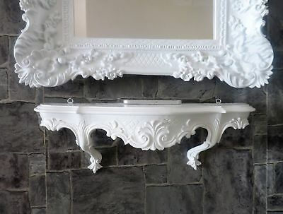Wall Bracket Baroque White Console Antique Storage Rococo 49 cm Shabby Hanging