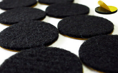 FELT GLIDERS Round Black - Strong Self-Adhesive Ø 15mm - 62mm - Furniture 2mm