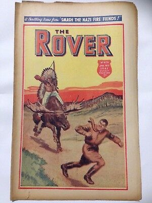 DC Thompson. THE ROVER Wartime Comic. January 18th 1941 Issue 979.