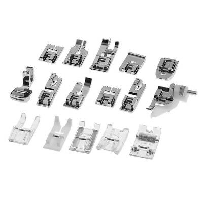 FT- 16Pcs Domestic Sewing Machine Presser Foot Feet Set Home Accessories Tool Be
