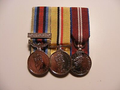 OSM Afghanistan, Iraq and Queens Diamond Jubilee Miniature Medals Mounted Telic