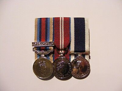 OSM Afghanistan, Queens Diamond Jubilee, Navy LSGC Miniature Medals Mounted