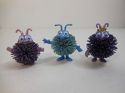 1998 Disney Hasbro Pixar A Bug's Life FLIK, PRINCESS ATTA, DOT Koosh Toy Figures