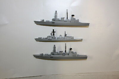 Trio of unboxed  2 type 45 destroyers and one Tye 23 frigate. New no boxes.