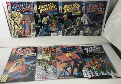 Justice Society of America #1-8, 1991 mini-series - nice VF copies!